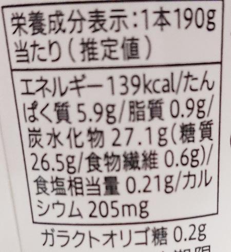 のむヨーグルト 梨の栄養成分表