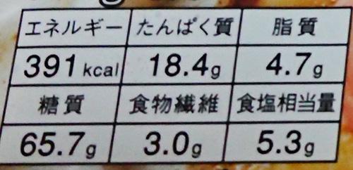 ファミリマート「鍋焼うどん」の栄養成分表示