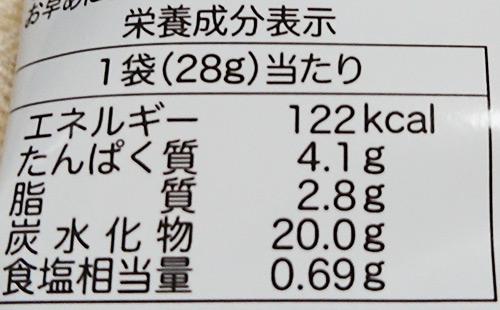 「タルタルチョップ」の栄養成分表示