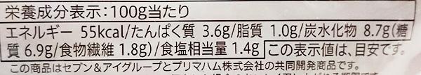 「トマト味ソースのロールキャベツ」の栄養成分表示