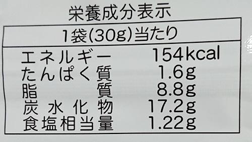 「STRONぎゅ!! たこ焼風味」の栄養成分表示