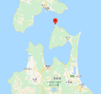 青森県大間町の地図