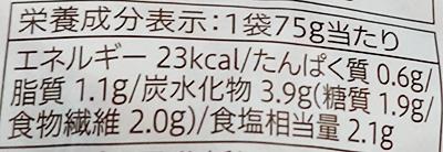 「2種の豆板醤を使用 ザーサイ炒め」の栄養成分表示