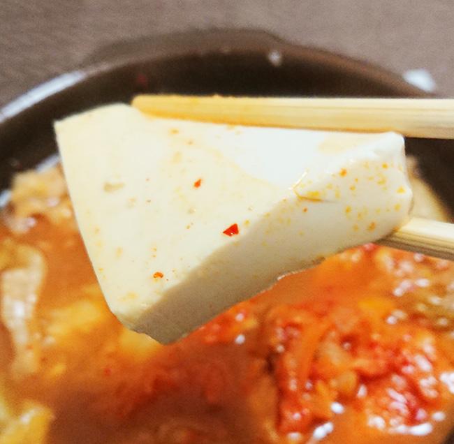 「1/2日分の野菜!コク旨キムチ鍋」に入っている豆腐