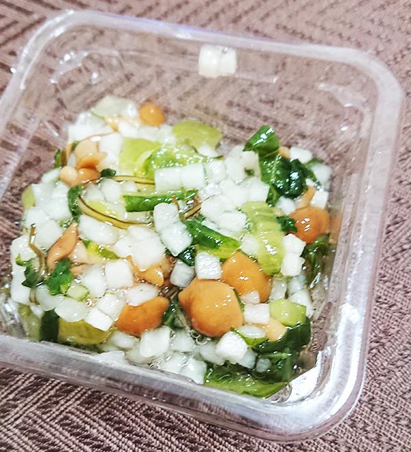 「蔵王菜なめこ」のフタを取った写真