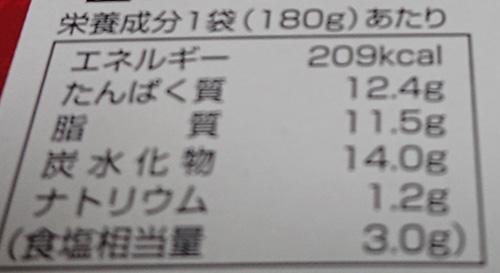 『肉味噌カレー』の栄養成分表示