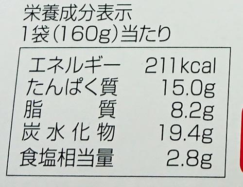 「名古屋どてめし」の栄養成分表示