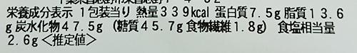 「焼そばパン(日清焼そばU.F.O.ソース味)」の栄養成分表示