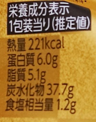 「熟成さばおむすび」の栄養成分表示