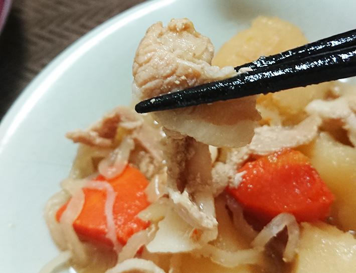 『北海道産男爵芋の肉じゃが』に入っている豚バラ肉